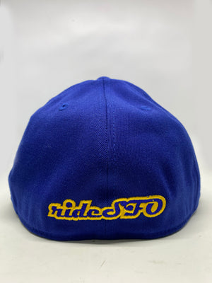 rideSFO LoungeChairLife Flat Bill Hat Blue/Gold