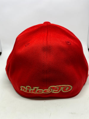 rideSFO LoungeChairLife Flat Bill Hat Red/Gold