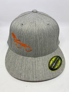 rideSFO LoungeChairLife Flat Bill Hat Heather/Orange