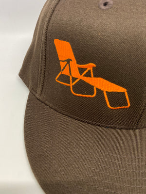 rideSFO LoungeChairLife Flat Bill Hat Brown/Orange
