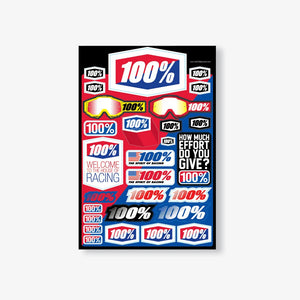 Ride 100 Percent Decal Sheet