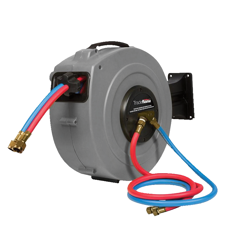 Trade Flame Retractable Oxygen/Acetylene 10M Hose Reel
