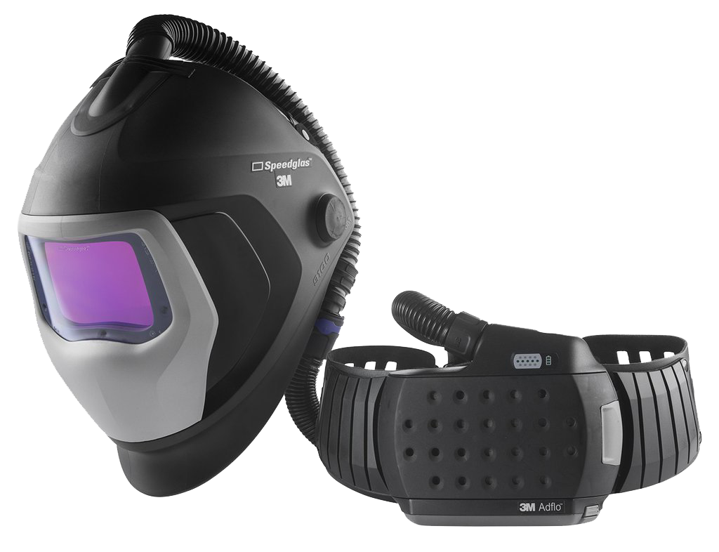 3M™ Speedglas™ 507726HD 9100XXi Air Auto-Darkening Welding Helmet with Heavy Duty Adflo PAPR