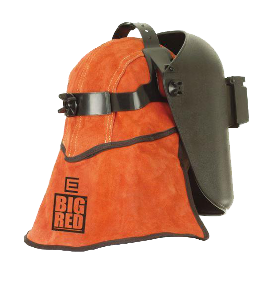 Elliotts BIG RED Leather Welders Cap With Nape ACSC5