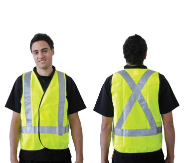 ProChoice Fluoro Yellow X Back Safety Vest Day/Night XX-Large ACSVY2XLAS