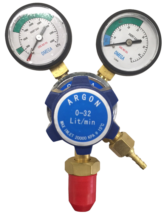 Topgun Omega Argon Twin Gauge Gas Regulator TGRRARG