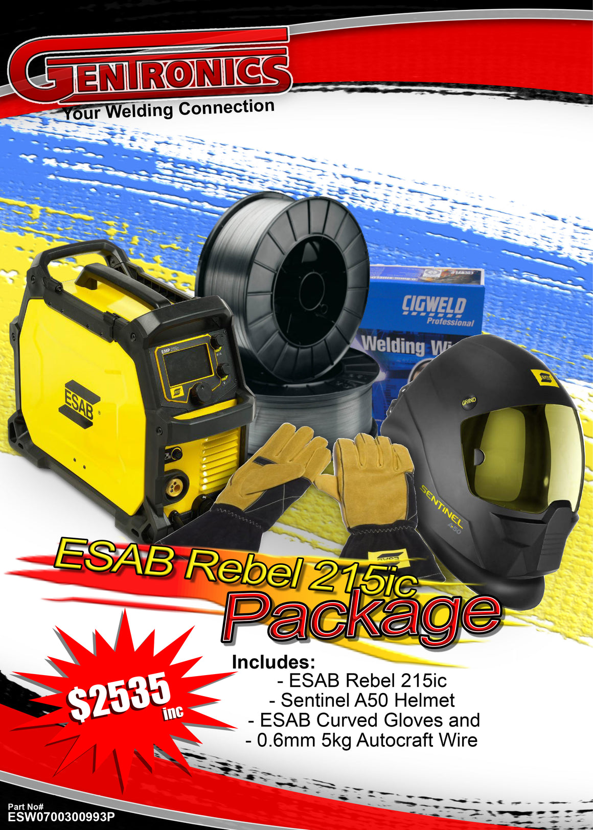 Esab Rebel 215ic Package Deal
