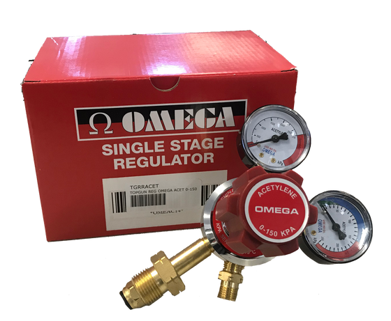 Topgun Omega Acetylene Twin Gauge Gas Regulator TGRRACET