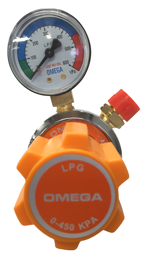 Topgun Omega LPG Single Gauge Gas Regulator TGRRLPG