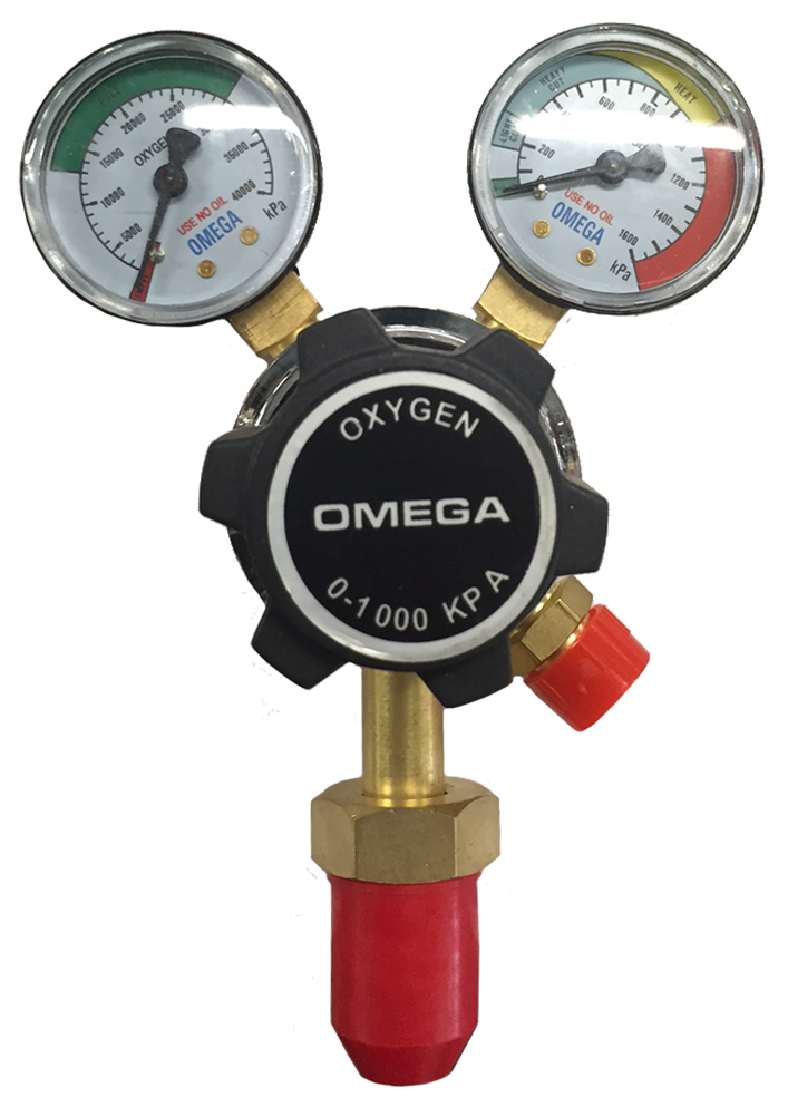 Topgun Omega Oxygen Twin Gauge Gas Regulator TGRROXY