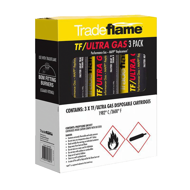 Tradeflame TF/ULTRA GAS-Performance Gas MAPP® Replacement 3Pk PI326439PK