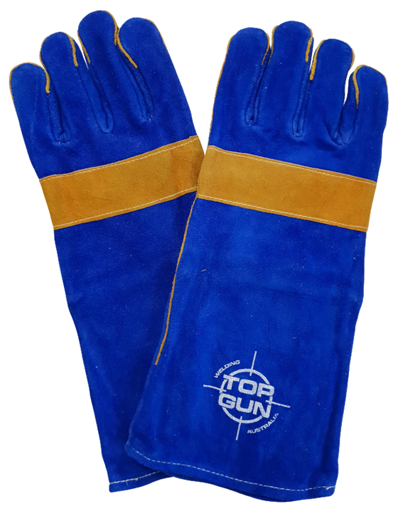Topgun Blue & Yellow Welding Gloves TGACGBY