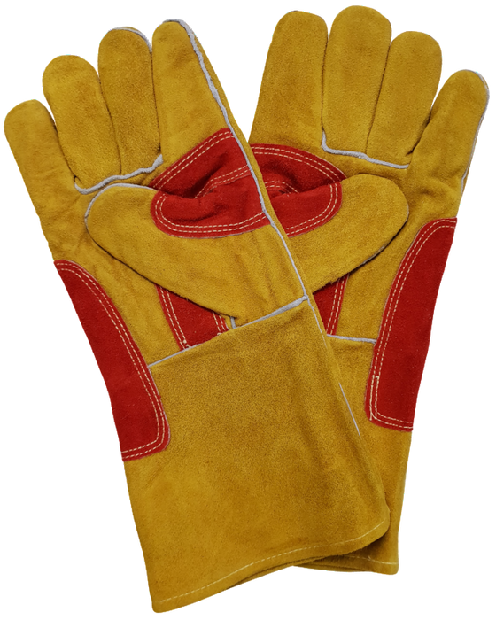 Topgun Red & Gold Welding Gloves TGACGRG