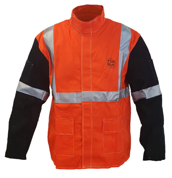 Topgun Hi-Vis Welders Jacket Medium TGACWJHVM