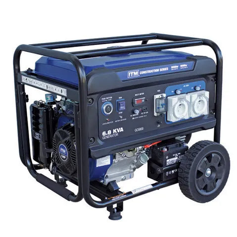 ITM 6.8KVA GENERATOR PETROL CONSTRUCTION, 5500 WATT PEAK ELECTRIC START W/REMOTE