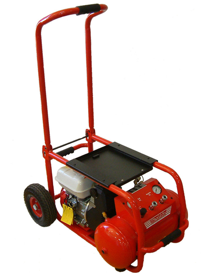 Westair  Compressor Portable Petrol (trolly mounted) Direct Drive Oil Free Pump Cfm 13.5 25Ltr COWP14DDTM