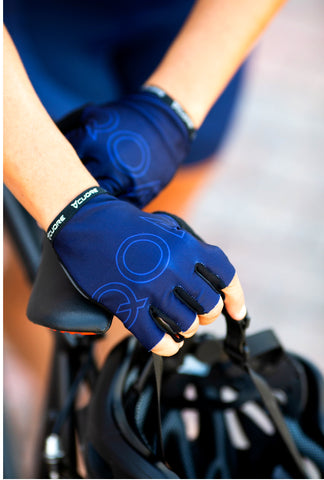 SIGNATURE 'NAVY' fingerless gloves