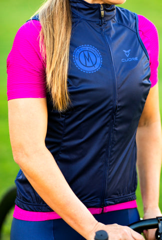 SIGNATURE 'NAVY' sleeveless wind vest