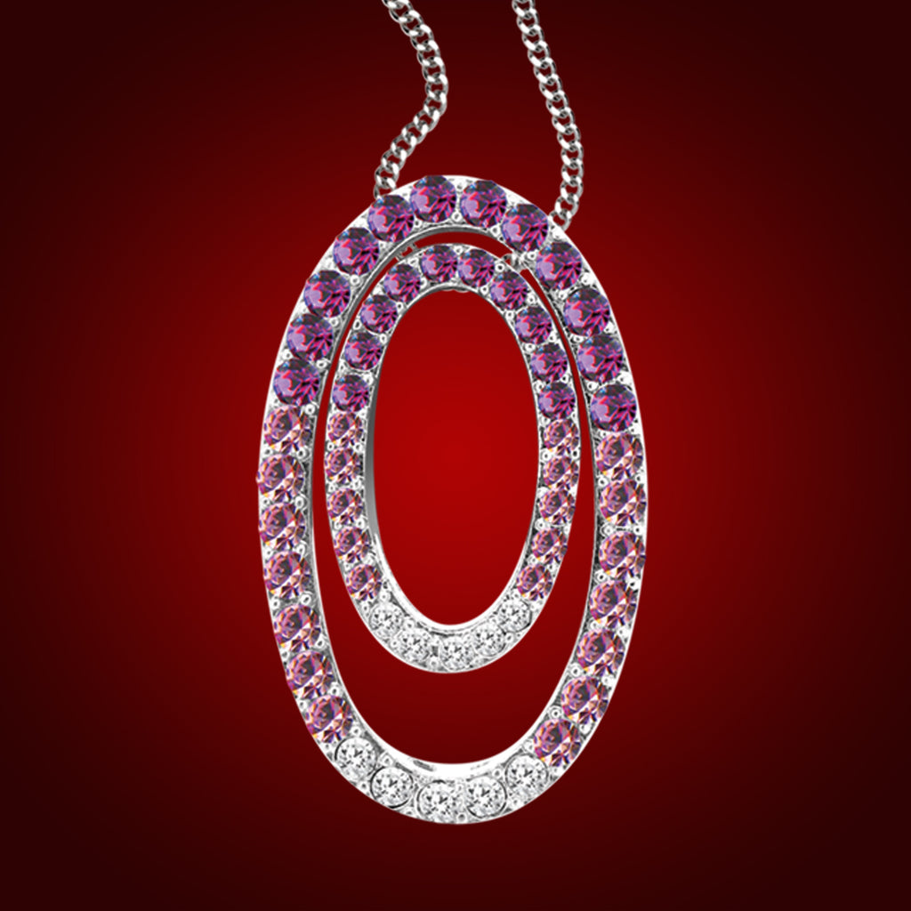 """Mosaic"" Double Oval Crystal Pendant 1944800"