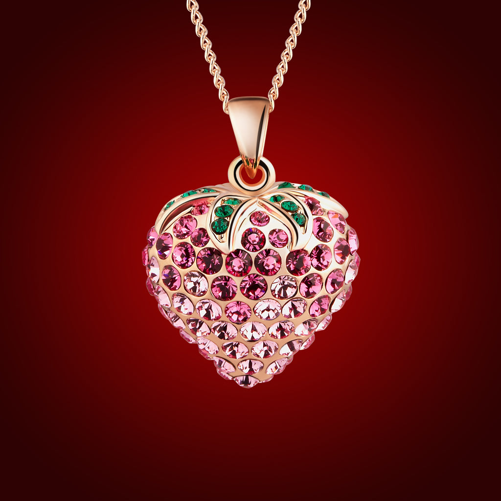 """Summer Strawberry"" Crystal Pendant 2052401"