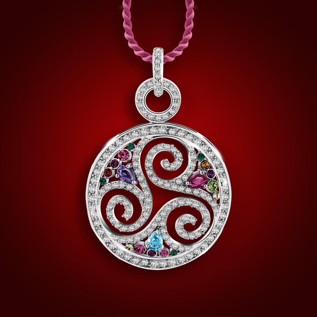 ''Starry Swirls'' Crystal Pendant 2099700
