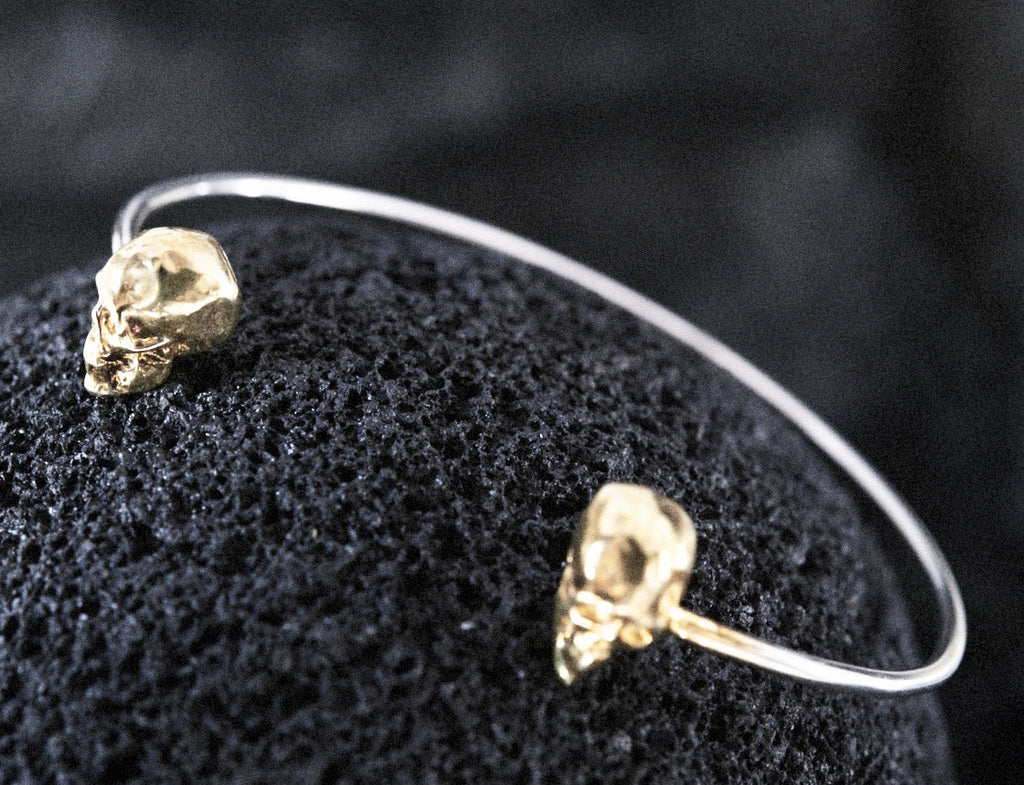 Skull Bangle // 18 CT Gold Plating