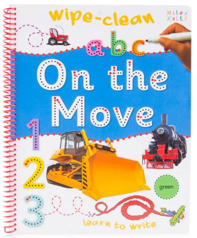On The Move Wipe Clean Book