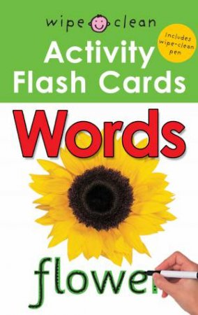 Wipe Clean Activity Flash Cards Words