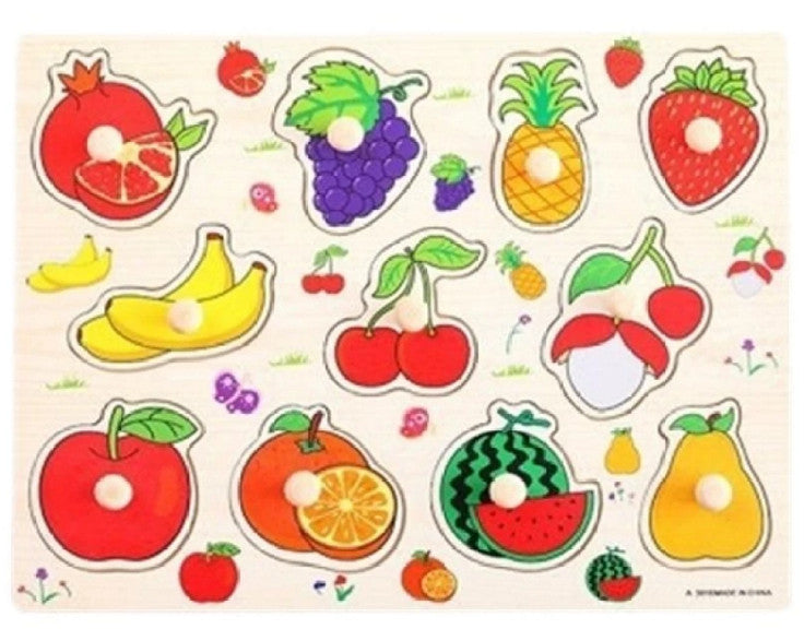 Wooden Fruit Peg Puzzle