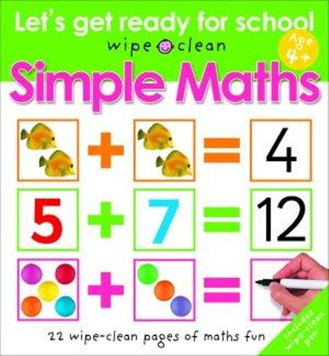 Let's Get Ready for School Wipe Clean Simple Maths