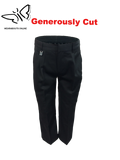 Black Sturdy Fit Boys Trousers