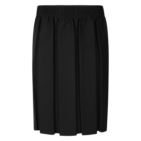 Black Fully Elasticated Box Pleat Skirt NON IRON