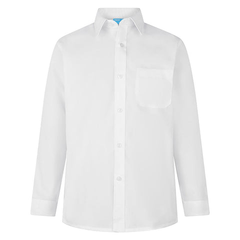Boys White Non-Iron Shirts (Twin Pack)