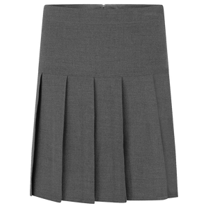 Grey Lycra Pleated Skirts
