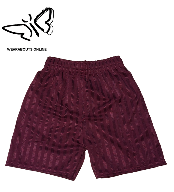 Maroon Shadow Striped Football PE Shorts