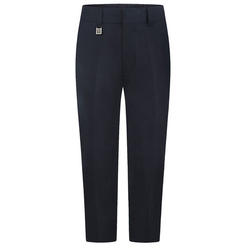 Navy Sturdy Fit Boys Trousers - Wide Fitting
