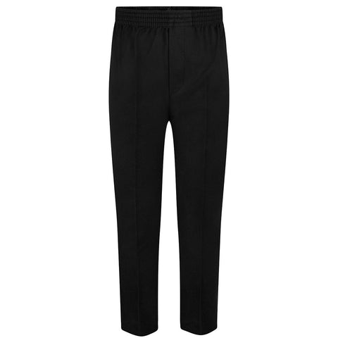 Black Boys Full Elastic Pull Up Trousers (up to age 7-8)