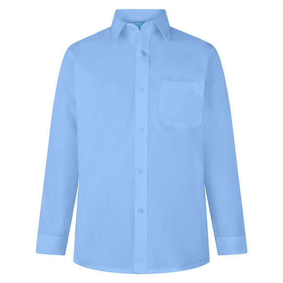 Boys Sky Blue Shirts (Long and Short Sleeves)