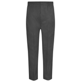 Grey Boys Full Elastic Pull Up Trousers