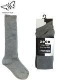 Grey Knee High Socks (3 Pair Pack)