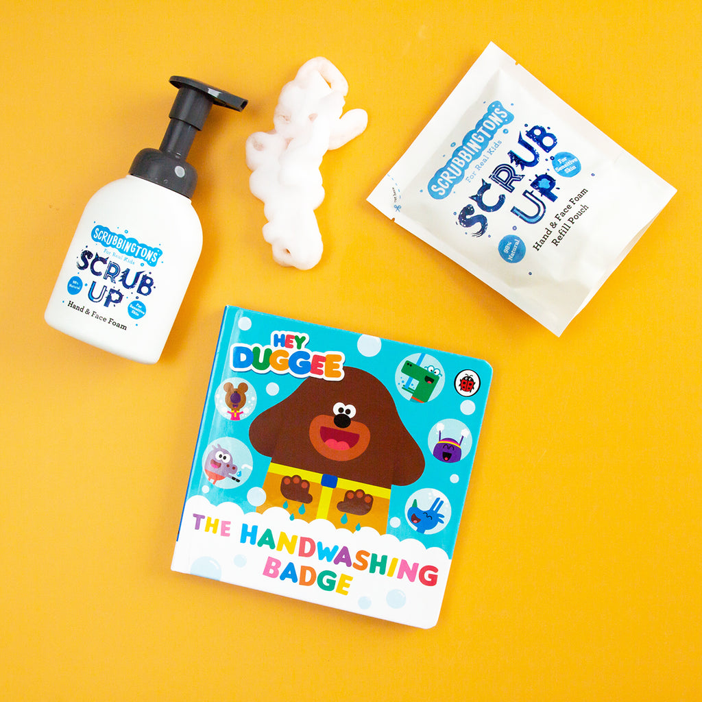 Win a Hey Duggee book and Foamtastic bundle of Scrubbingtons.
