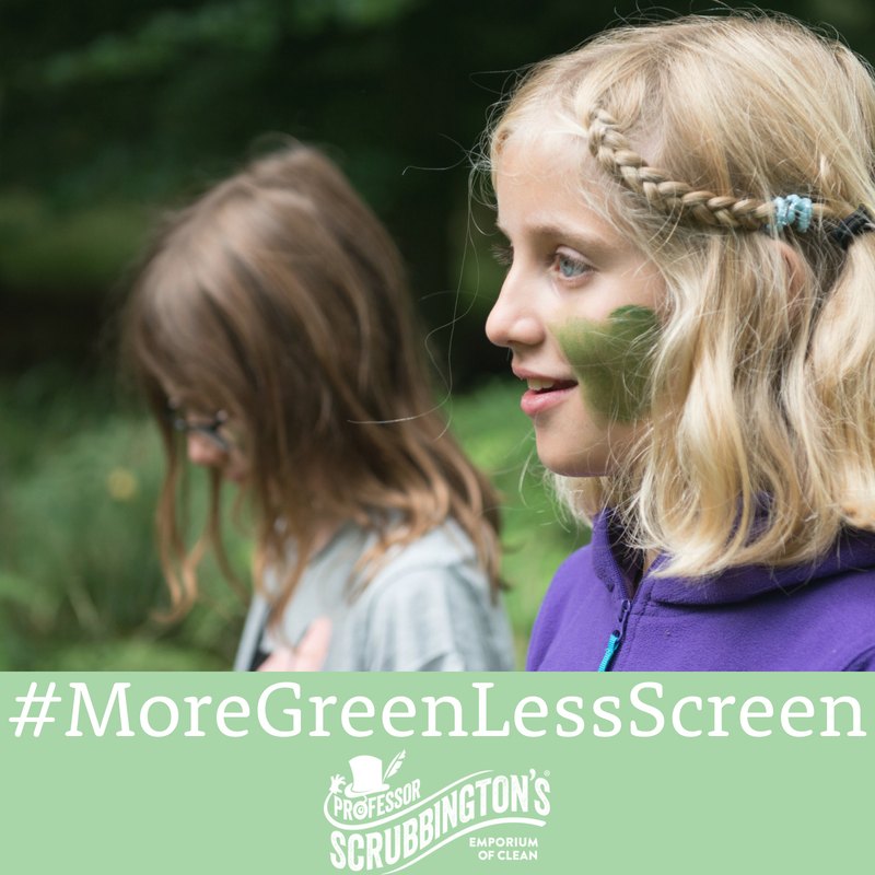 More Green, Less Screen - Unplug your children and game outside