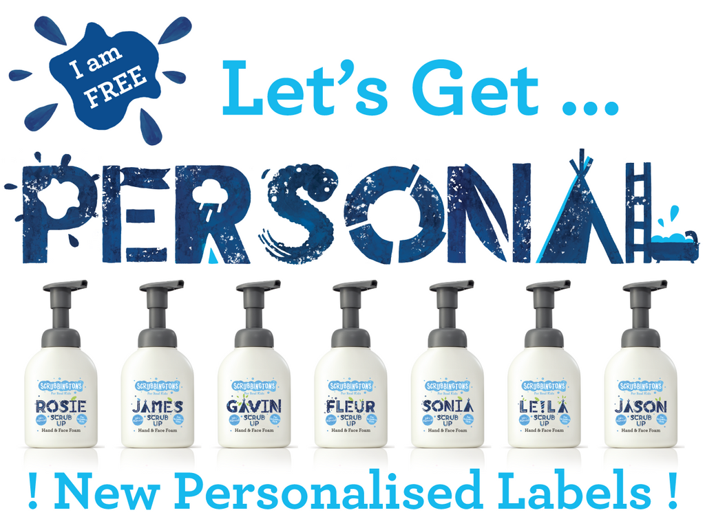 FREE - Hand & Face Wash Personalised labels
