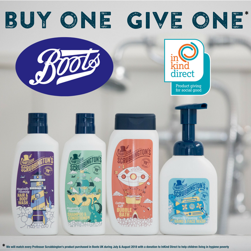 Buy One, Give One this Summer with Scrubbington's and Boots