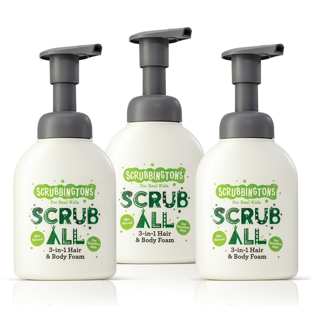 Three Of A Kind - Scrubbingtons 3 in 1 Shampoo, Conditioner & Body Wash Foam - OFFER - Save over 15%!