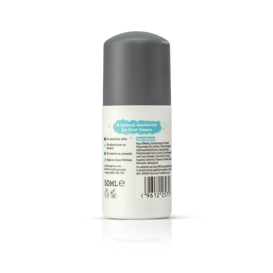 A case of 6 Scrubbingtons First Deodorant – 50ml - only £18