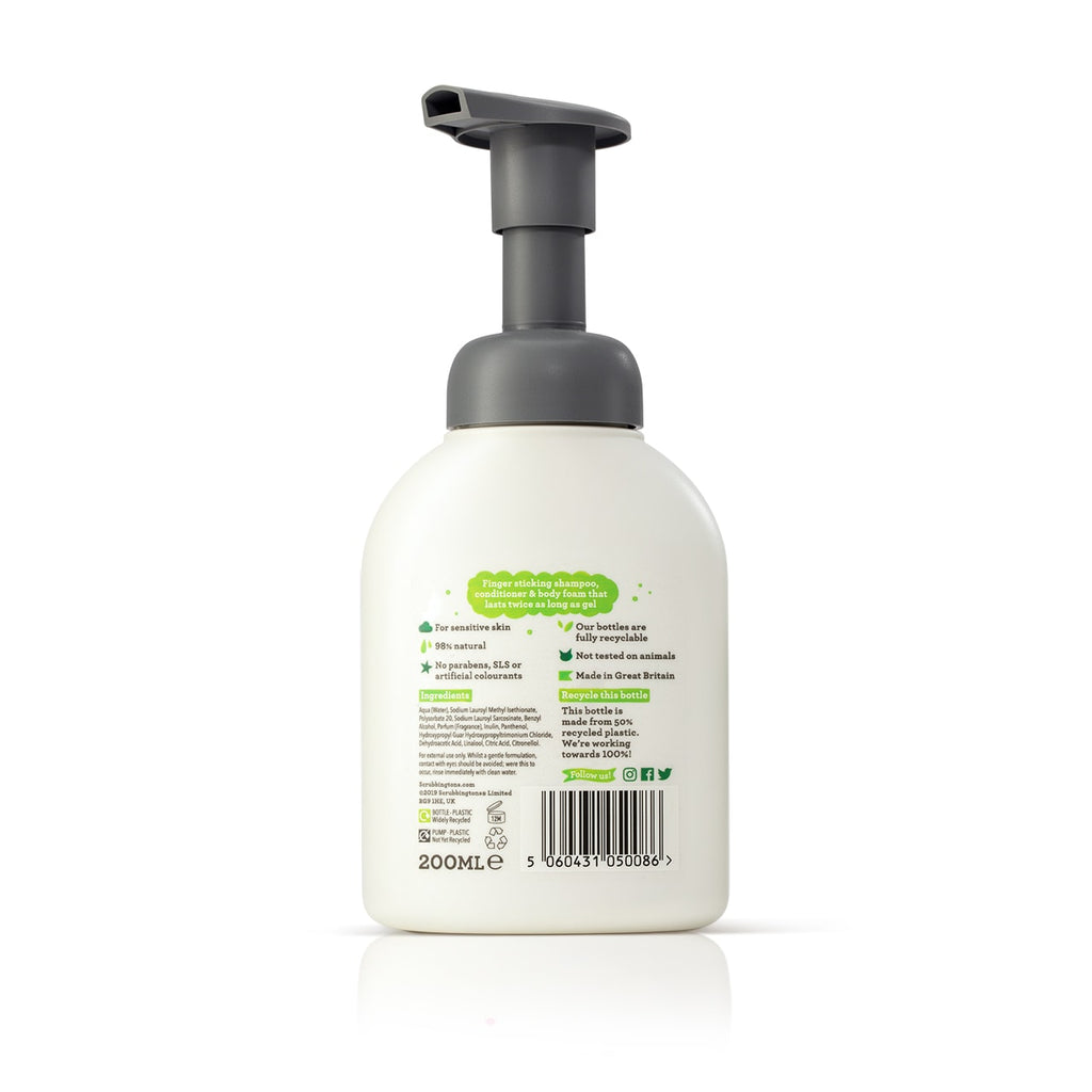 3 in 1 Shampoo, Conditioner & Body Wash Foam – 200ml.