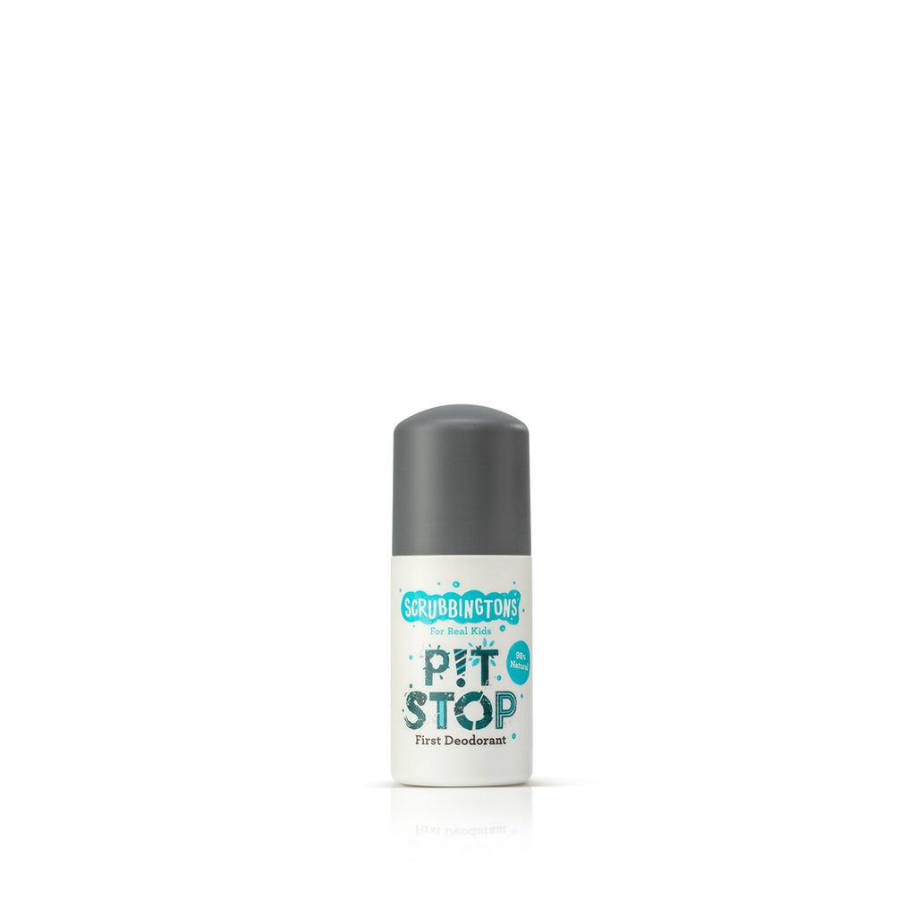 Scrubbingtons Pit Stop 50ml - First Deodorant for Kids - Front View of Product