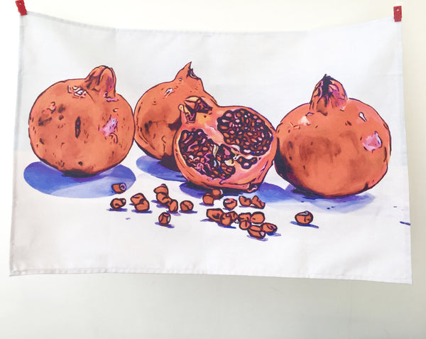 Artypants Pomegranates Tea Towel