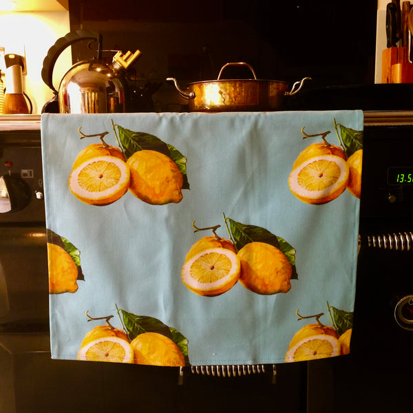 Lemons Tea Towel made in the UK
